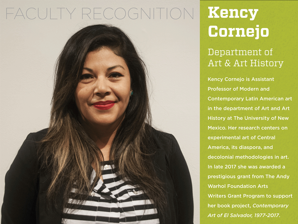 Kency Cornejo of Art and Art History Department Receives Andy Warhol Foundation Arts Writers Grant